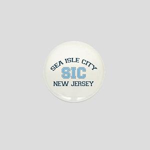 Sea Isle City NJ - Varsity Design Mini Button