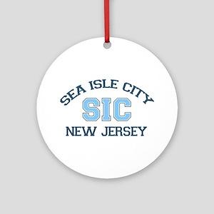 Sea Isle City NJ - Varsity Design Ornament (Round)