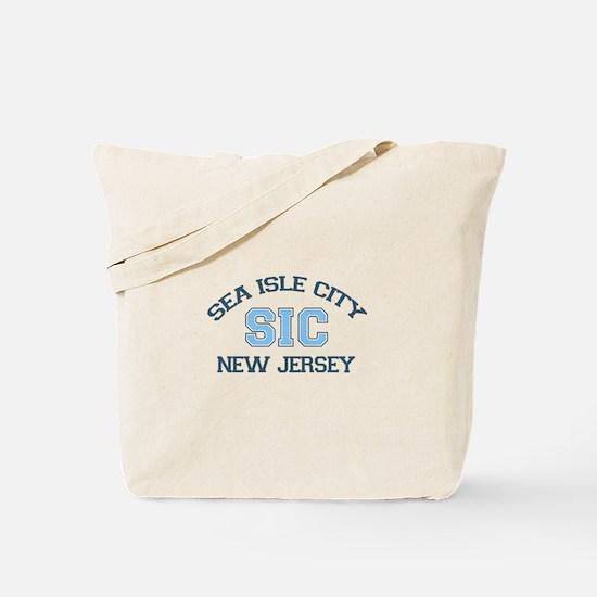 Sea Isle City NJ - Varsity Design Tote Bag