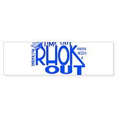 TIME OUT Sticker (Bumper)