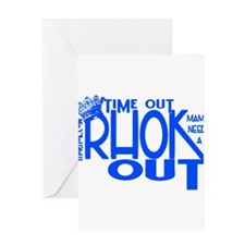 TIME OUT Greeting Card