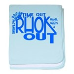 TIME OUT baby blanket