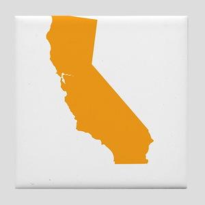 Orange California Tile Coaster