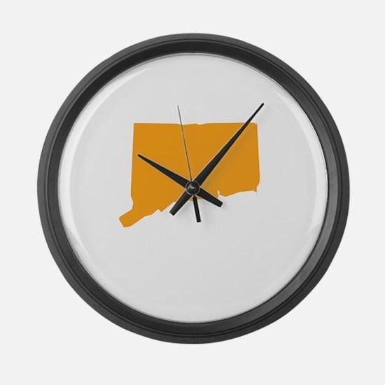 Orange Connecticut Large Wall Clock