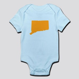 Orange Connecticut Infant Bodysuit