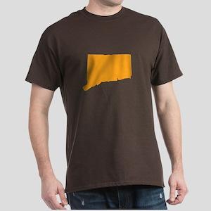 Orange Connecticut Dark T-Shirt