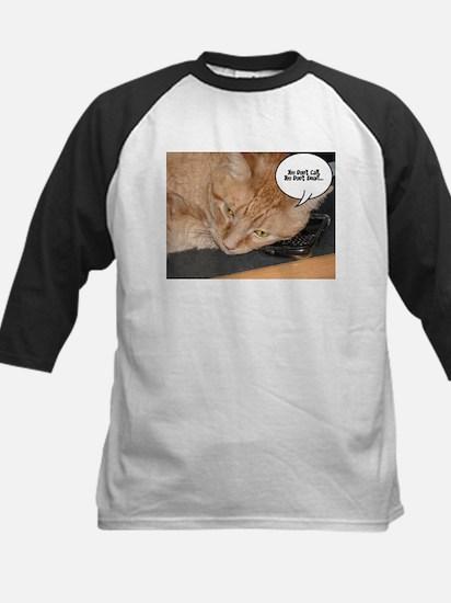 Orange Tabby Cat Humor Kids Baseball Jersey