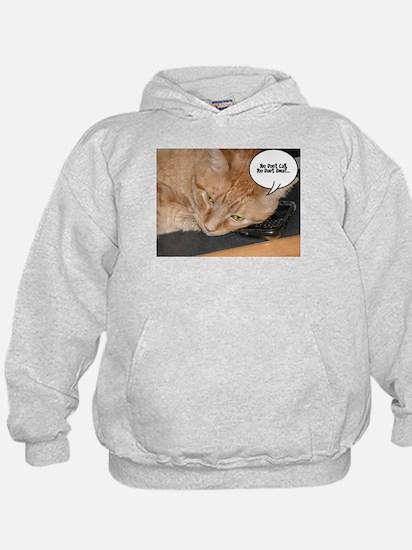 Orange Tabby Cat Humor Hoodie