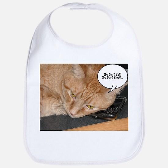 Orange Tabby Cat Humor Bib
