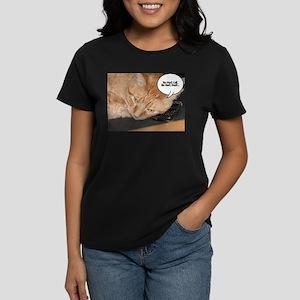 Orange Tabby Cat Humor Women's Dark T-Shirt