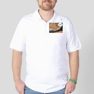 Orange Tabby Cat Humor Golf Shirt