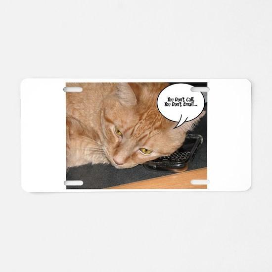 Orange Tabby Cat Humor Aluminum License Plate