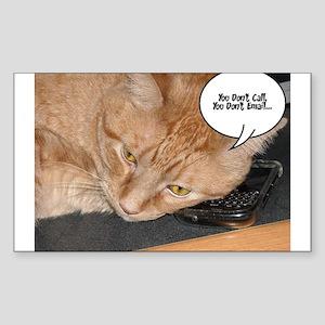 Orange Tabby Cat Humor Sticker (Rectangle)