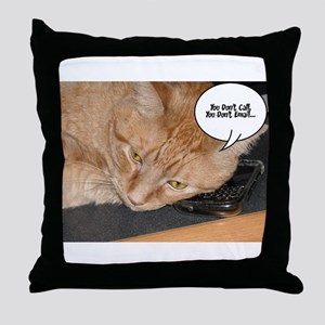 Orange Tabby Cat Humor Throw Pillow
