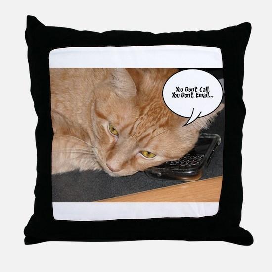 Orange Tabby Cat Humor Throw Pillow
