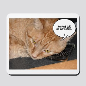 Orange Tabby Cat Humor Mousepad