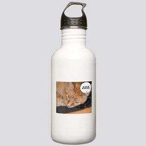 Orange Tabby Cat Humor Stainless Water Bottle 1.0L