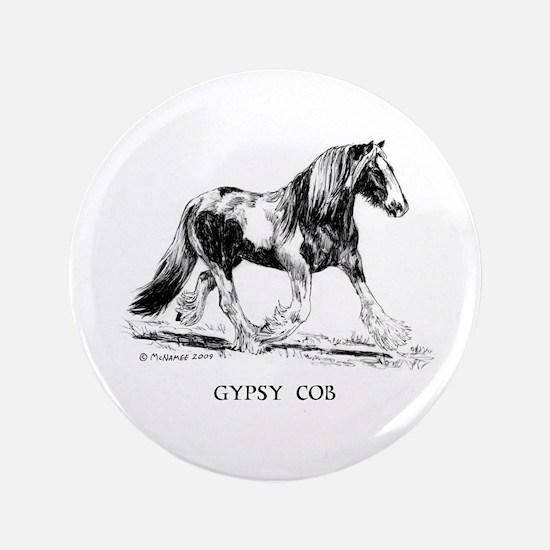 "Gypsy Horse 3.5"" Button"