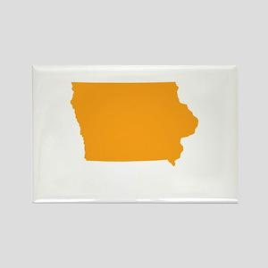 Orange Iowa Rectangle Magnet
