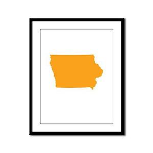 Orange Iowa Framed Panel Print