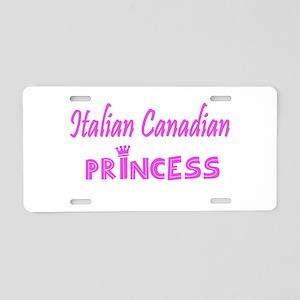 Italian Canadian Princess Aluminum License Plate