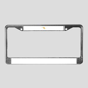 Orange Maryland License Plate Frame