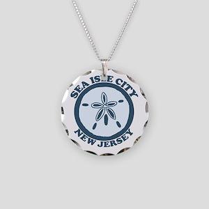 Sea Isle City NJ - Sand Dollar Design Necklace Cir