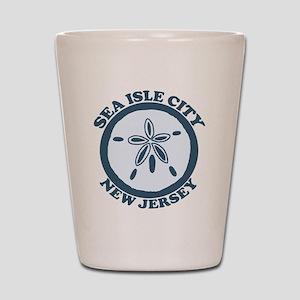 Sea Isle City NJ - Sand Dollar Design Shot Glass