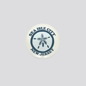 Sea Isle City NJ - Sand Dollar Design Mini Button