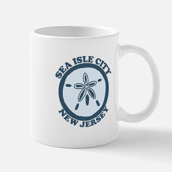 Sea Isle City NJ - Sand Dollar Design Mug