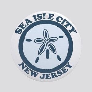 Sea Isle City NJ - Sand Dollar Design Ornament (Ro