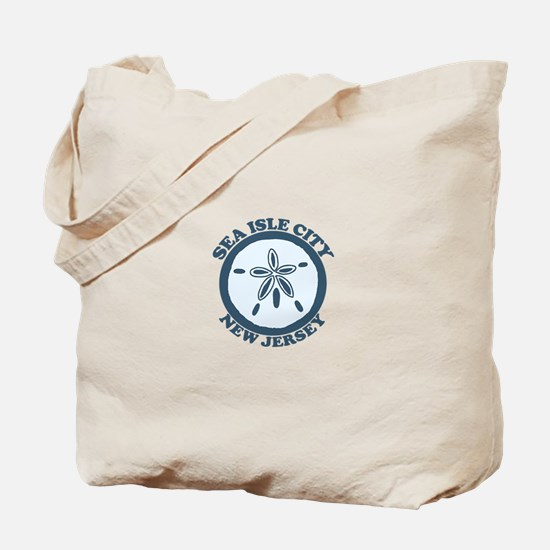 Sea Isle City NJ - Sand Dollar Design Tote Bag