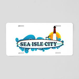 Sea Isle City NJ - Surf Design Aluminum License Pl