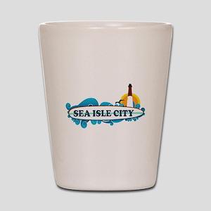 Sea Isle City NJ - Surf Design Shot Glass