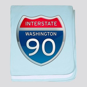 Interstate 90 - Washington baby blanket