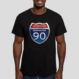 Interstate 90 - Washington Men's Fitted T-Shirt (d