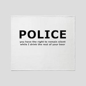 Beer Police Throw Blanket