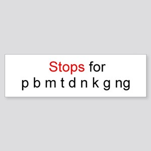 Stops for Bumper Sticker