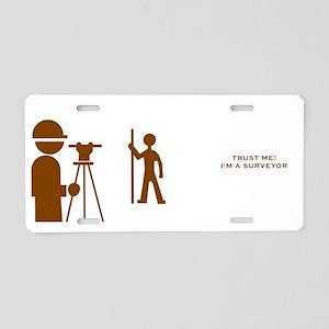 Surveyor Aluminum License Plate