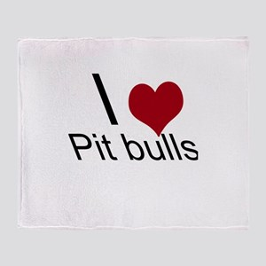 I Heart Pit Bulls Throw Blanket