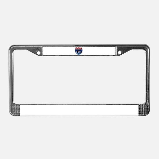 Interstate 80 - Nevada License Plate Frame