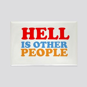Hell Is Other People Rectangle Magnet