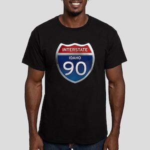 Interstate 90 - Idaho Men's Fitted T-Shirt (dark)