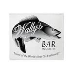 Wally's Bar Throw Blanket