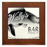 Wally's Bar Framed Tile