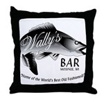Wally's Bar Throw Pillow