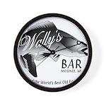 Wally's Bar Wall Clock