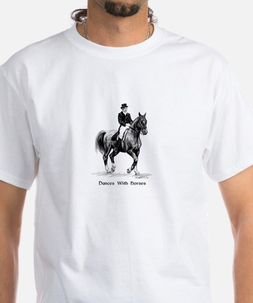 "Sport Horse ""Dressage"" White T-Shirt"