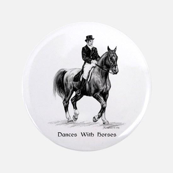 """Sport Horse """"Dressage"""" 3.5"""" Button"""