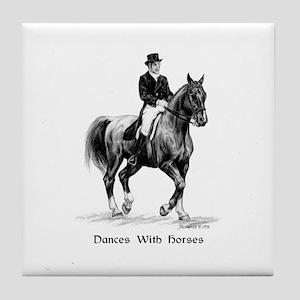"""Sport Horse """"Dressage"""" Tile Coaster"""